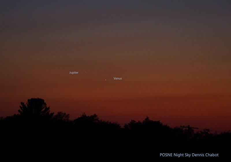 Dennis Chabot caught Venus and Jupiter Friday evening, August 26, 2016.