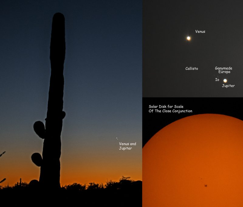 Eliot Herman in Tucson caught Venus and Jupiter on August 27.