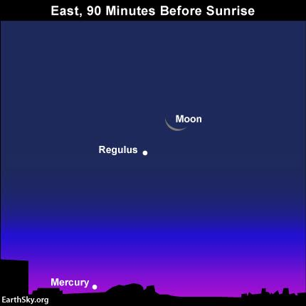 Sky Chart moon Regulus