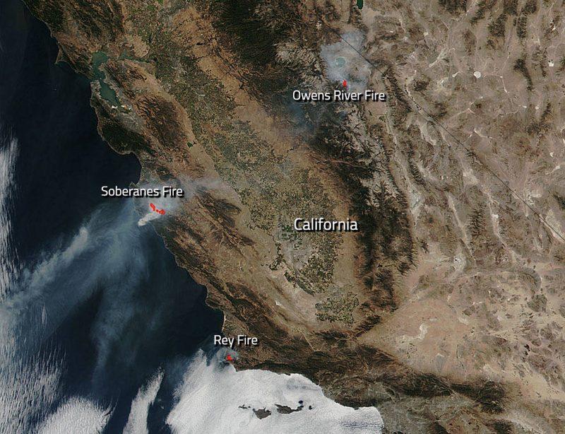 Three California wildfires still burning   Earth   EarthSky on lightning strike map california, large map of california, kern county california,