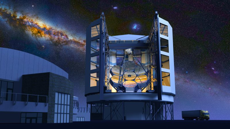 Artist's concept of Giant Magellan Telescope when completed in 2025. Image via Wikimedia Commons.