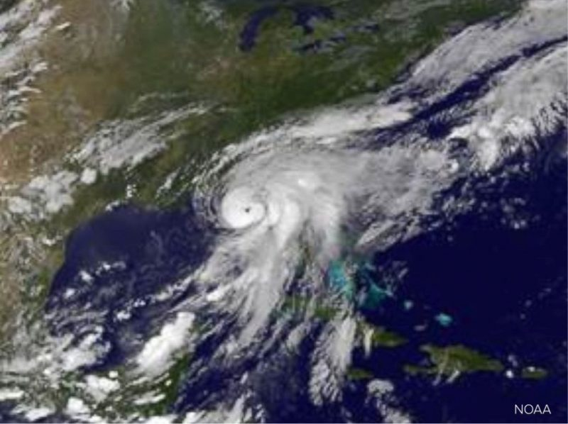NOAA satellite image of Hermine on September 2, 2016.