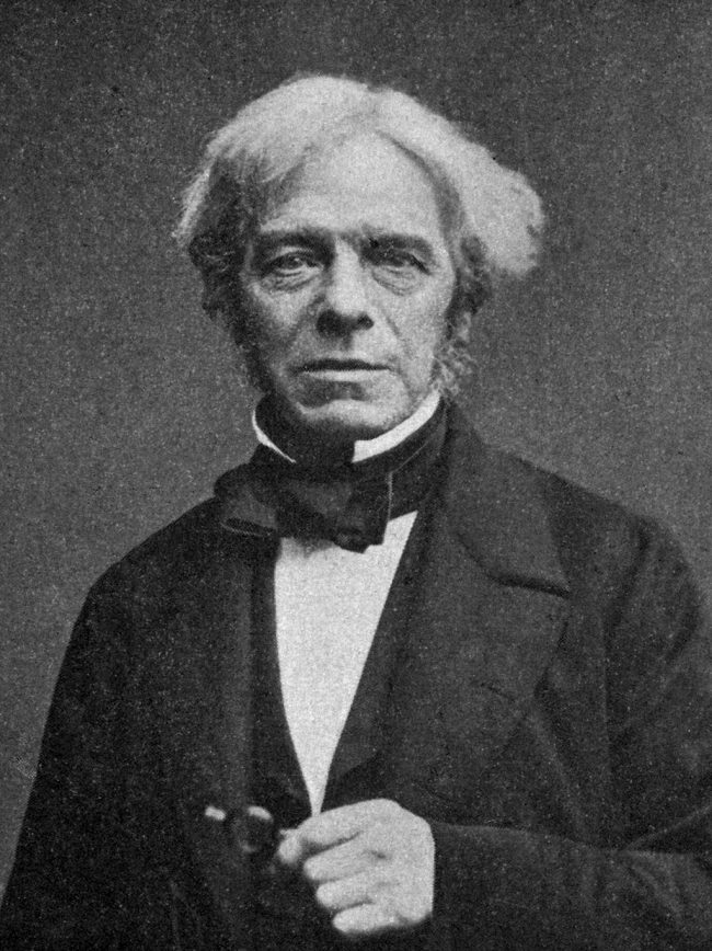 Michael Faraday circa 1861 via Wikimedia Commons.