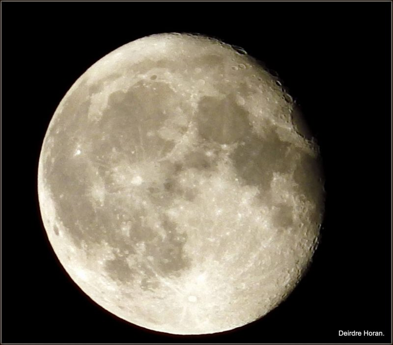 Waning gibbous moon on the night of September 18, 2016 from Deirdre Horan in Dublin, Ireland.