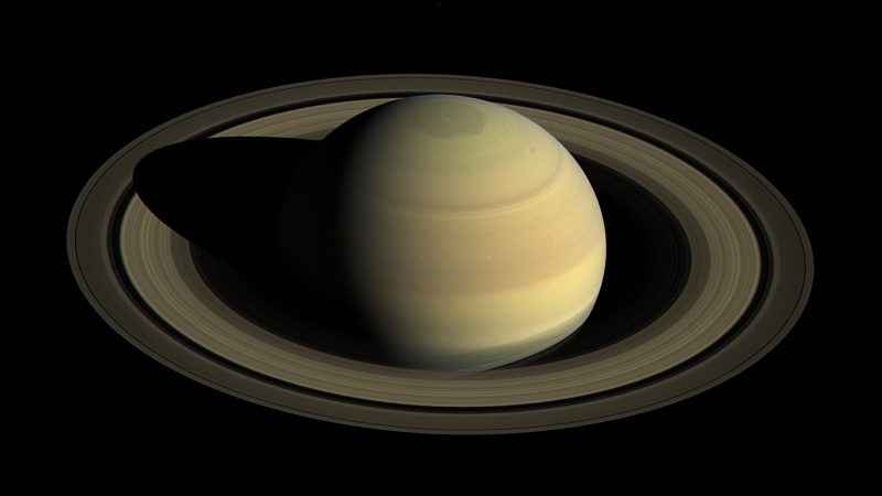 This view shows Saturn's northern hemisphere in 2016, as that part of the planet nears its northern hemisphere summer solstice in May 2017. Saturn's year is nearly 30 Earth years long, and during its long time there, Cassini has observed winter and spring in the north, and summer and fall in the south. The spacecraft will complete its mission just after northern summer solstice, having observed long-term changes in the planet's winds, temperatures, clouds and chemistry. Image via NASA JPL.