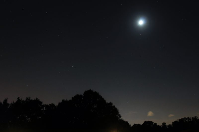 The moon, Saturn, Mars and Antares on September 8 from Michael Holland Sr. in Lakeland, Florida.