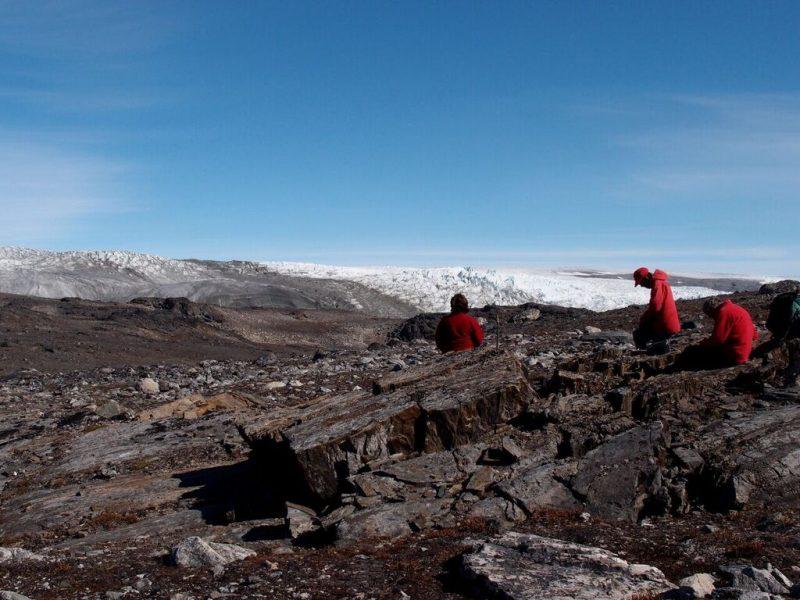 Nuttman's team working in Greenland. Image courtesy of Allen Nutman.
