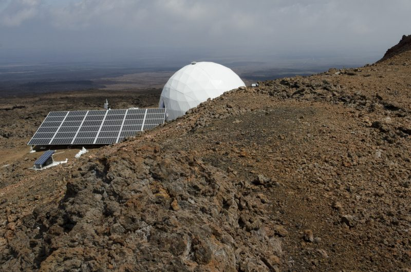 The dome is located in an isolated place that just looks like Mars. Image via Flickr/University of Hawaii/HI-SEAS