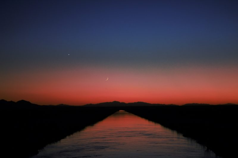 Moon and Venus on September 2, from Leslie Beauchamp near Ripley, California.