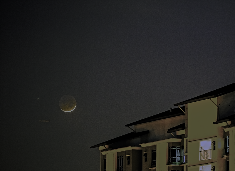 Venus and moon on September 3, 2016 from Halda Mohammed in Malaysia, who wrote: