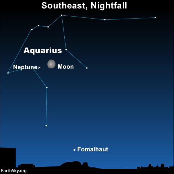 Sky Chart Aquarius Neptune Fomalhaut