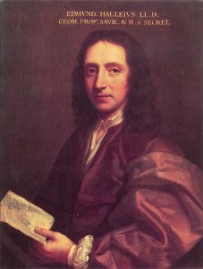 Portrait of Edmond Halley circa 1687 by Thomas Murray via Wikimedia Commons.