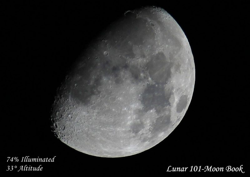 November 11, 2016 moon as captured by our friend Lunar 101 - Moon Book.