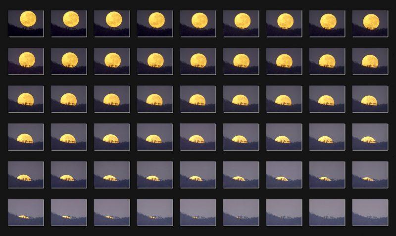 Setting moon on October 16, 2016