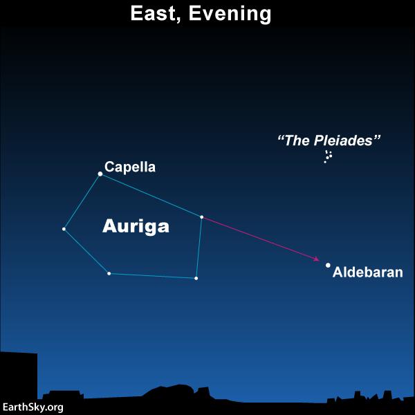 Northerly Stars Capella And Aldebaran Tonight Earthsky