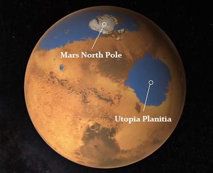 Utopia Planitia on Mars. Image via astro-science-workshop.blogspot.com.