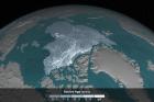 Arctic sea ice in 2016. Image via NASA