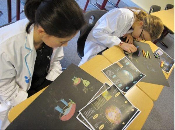 Researchers found that children most often depict scientists as men. Image via UNAWE.