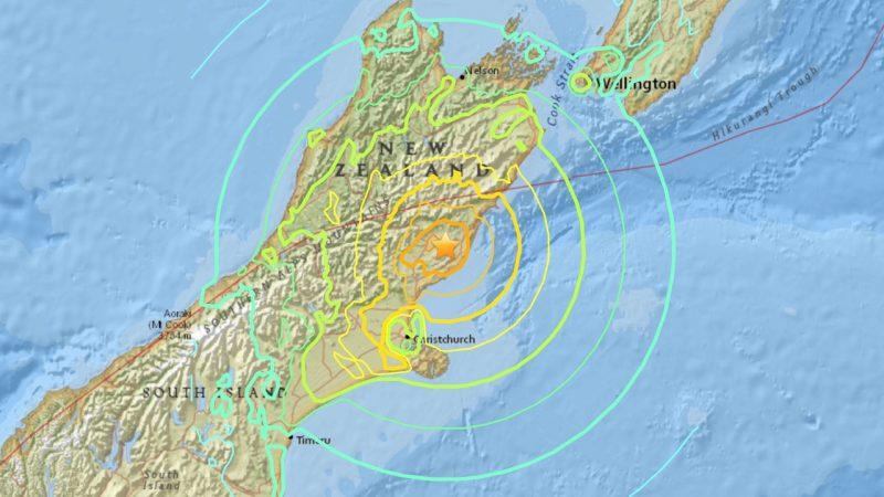 New Zealand earthquake, November 13, 2016.
