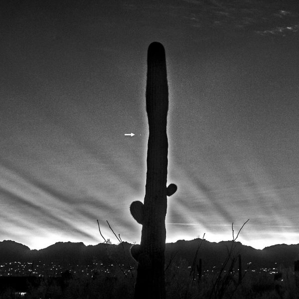Eliot Herman in Tucson, Arizona caught Mercury on the night of December 11, 2016, amidst crepuscular rays from the setting sun.