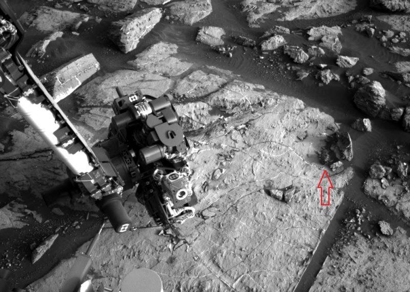 Image via Curiosity rover on Mars/ NASA/JPL/ASU.