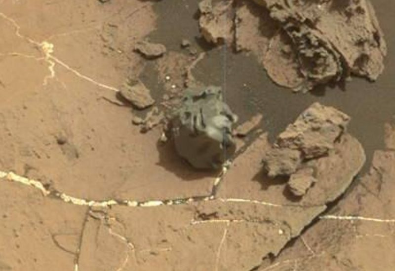 Bizarre smooth metallic meteorite spotted by Mars rover