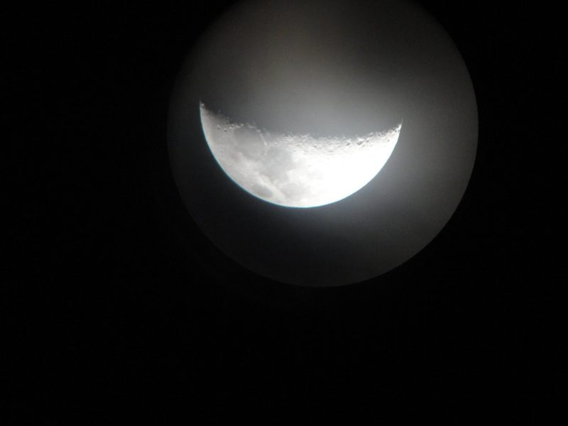 November 6, 2016 moon from Abdul Rahman in Kozhikode (Calicut), India. The November 6 moon was a fat waxing crescent. First quarter moon comes on November 7.