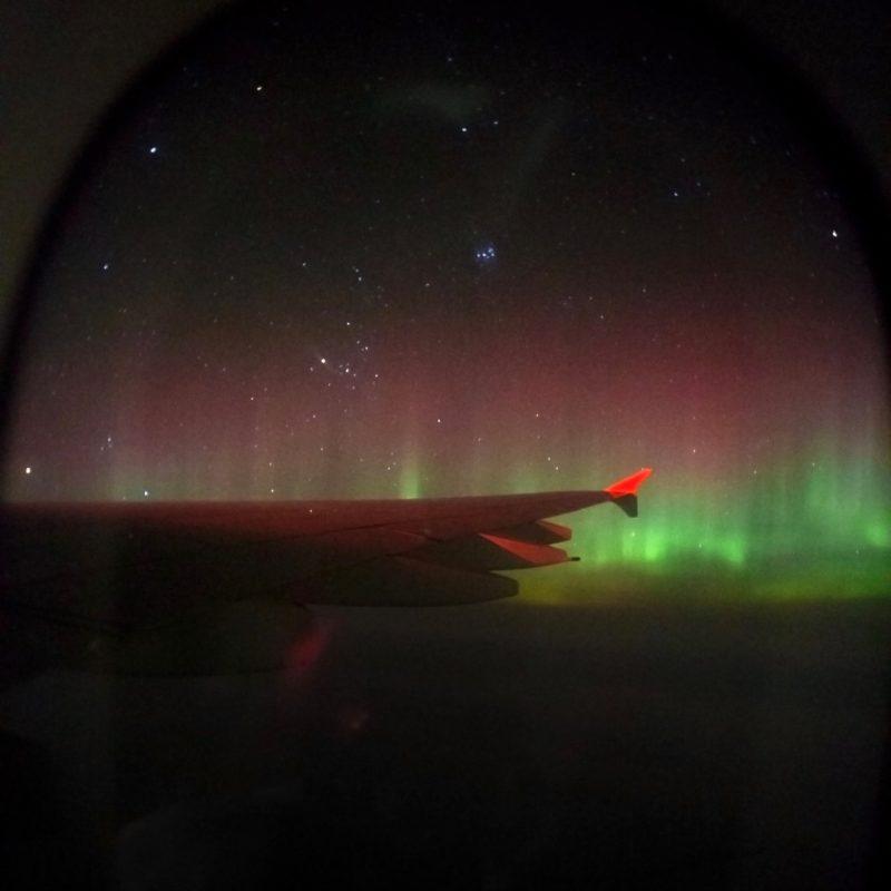 Shot from an airplane flying near Earth's North Pole on November 24, 2016. Photo by Shreenivasan Manievannan.