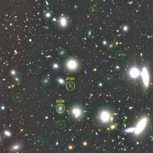 An ultra diffuse galaxy (UDG) is an extremely-low-density galaxy. Such a galaxy may have the same size as the Milky Way but a visible star count of only 1%.