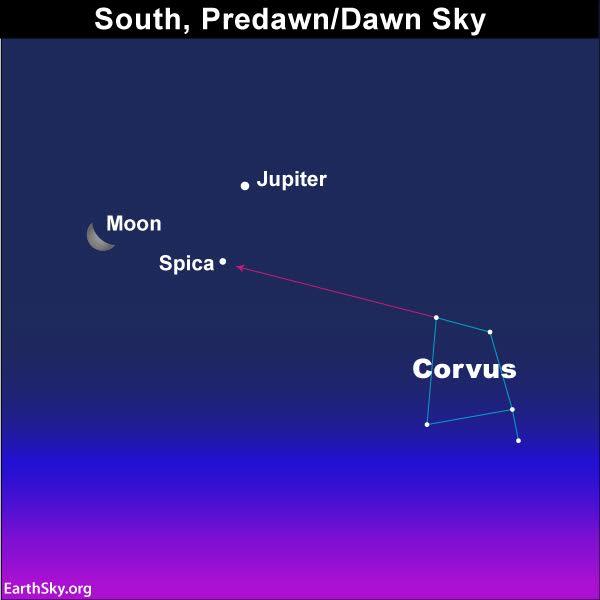 Sky Chart Corvus Spica
