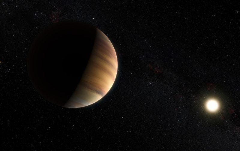 This artist's view shows the hot Jupiter exoplanet 51 Pegasi b...Image via ESO/M. Kornmesser/Nick Risinger.