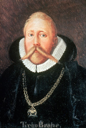 Man with very long mustache and wearing a ruff collar.