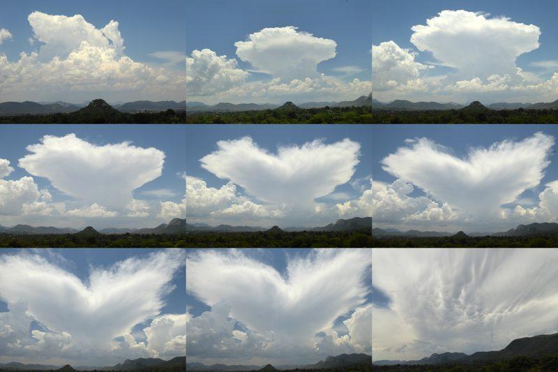 Cumulonimbus to anvil and mammatus clouds, December 4, 2016.