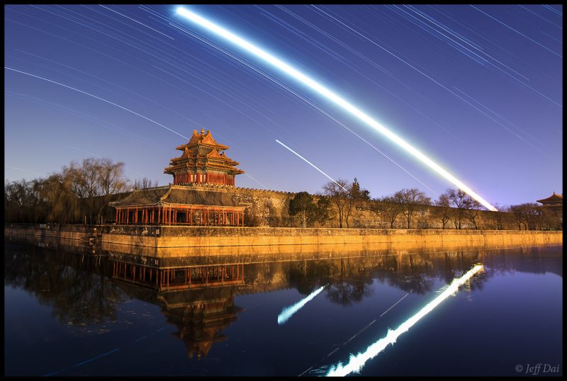 Startrails over the Forbidden City, December 6, 2016. Photo by Jeff Dai.
