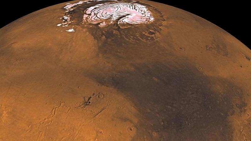Mars seen by the Viking oriter. Image via NASA/JPL/USGS