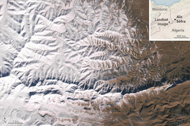 Snow in the Sahara Desert