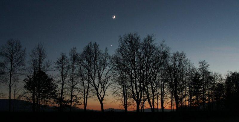 Venus and moon on December 3 from Antonín Hušek in the Czech Republic.
