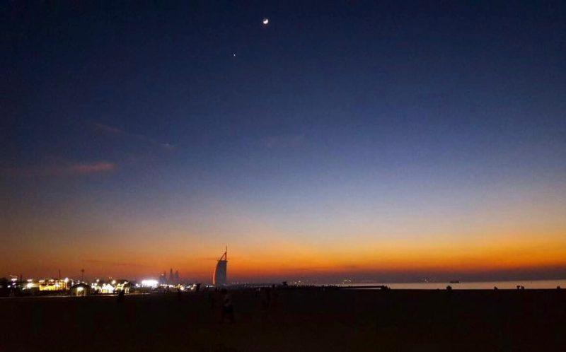 Moon and Venus from Dubai on December 3, from Priya Kumar.