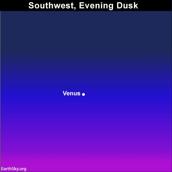 Sky chart Venus April 2017