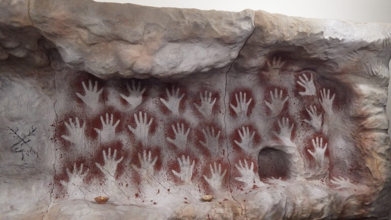 Experimentally Produced Hand Stencils At The Cave Image Via Jason Hall University Of Liverpool