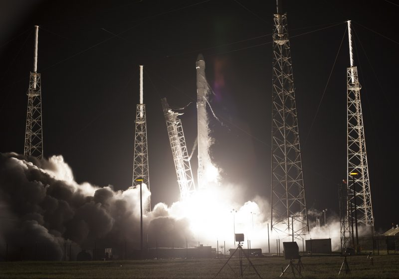 on july 18 2016 spacex s falcon 9 rocket lifted off from cape canaveral in florida carrying the dragon resupply spacecraft to the international space