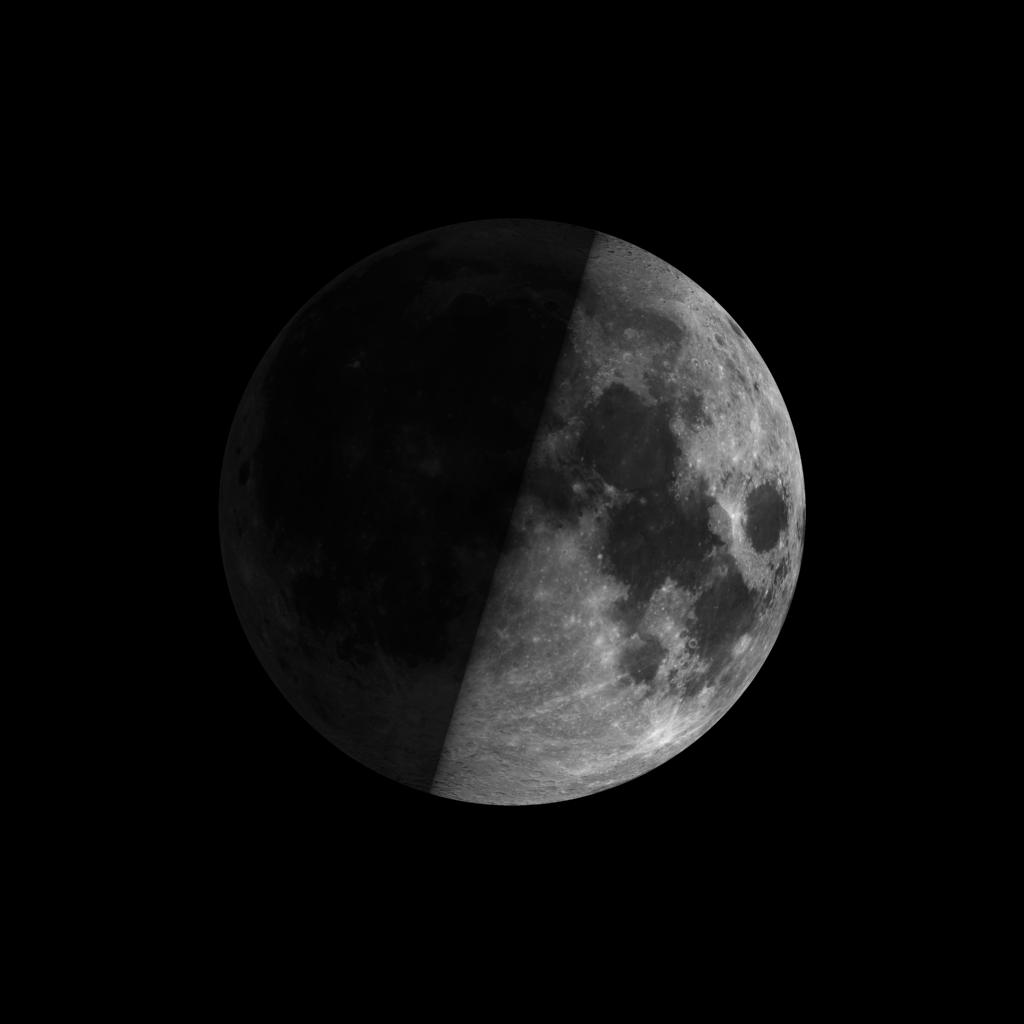 Lunar sunrise and the 1st quarter moon   Tonight   EarthSky