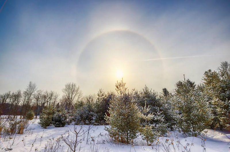 Winter Sun Halo Today S Image Earthsky