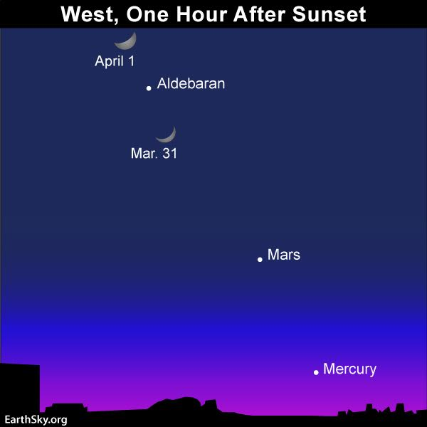 April guide to the bright planets 2017-march-31-april-1-moon-mercury-mars-aldebaran