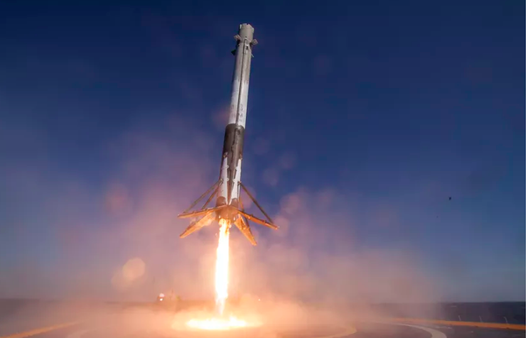 the falcon 9 first stage that is launching this week image via spacex