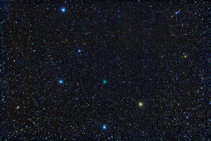 halleys komet observert fra tryvann