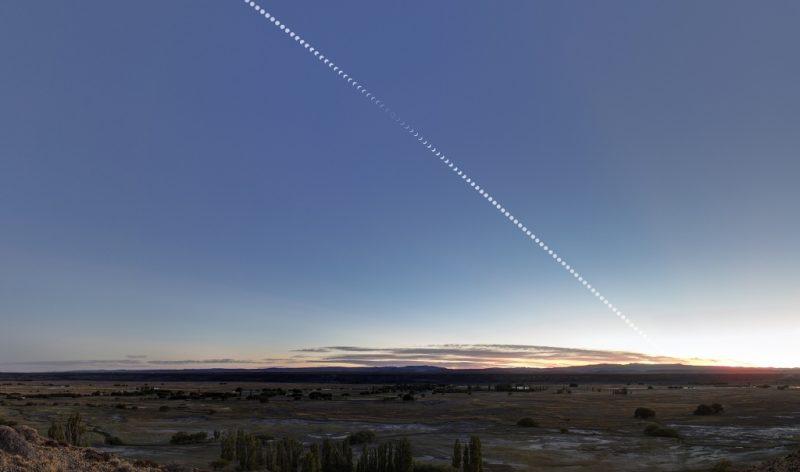 Annular eclipse after sunrise