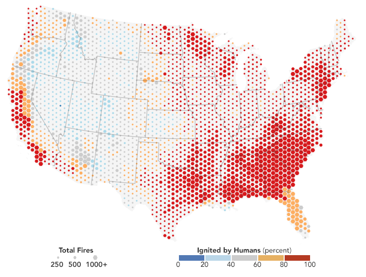 Most US wildfires ignited by people | Earth | EarthSky