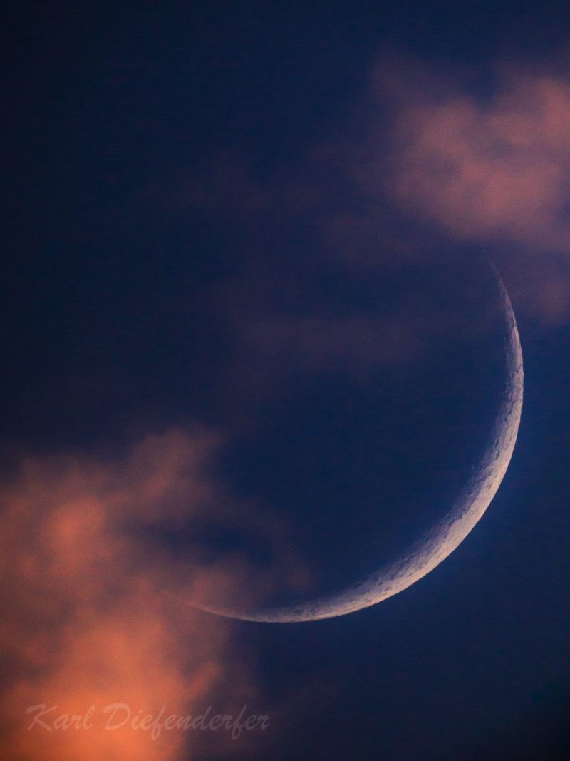 Where's The Moon? Waxing Crescent