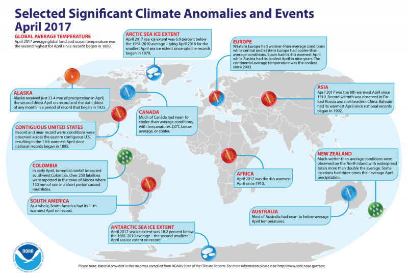 2nd-warmest April and year-to-date | Earth | EarthSky
